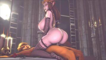 Zelda riding catatonic Link