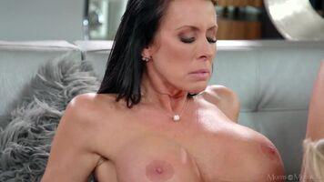 Candy And Kira Share A Bath - Two Big Tits Milf Lesbian Porn GIF ...